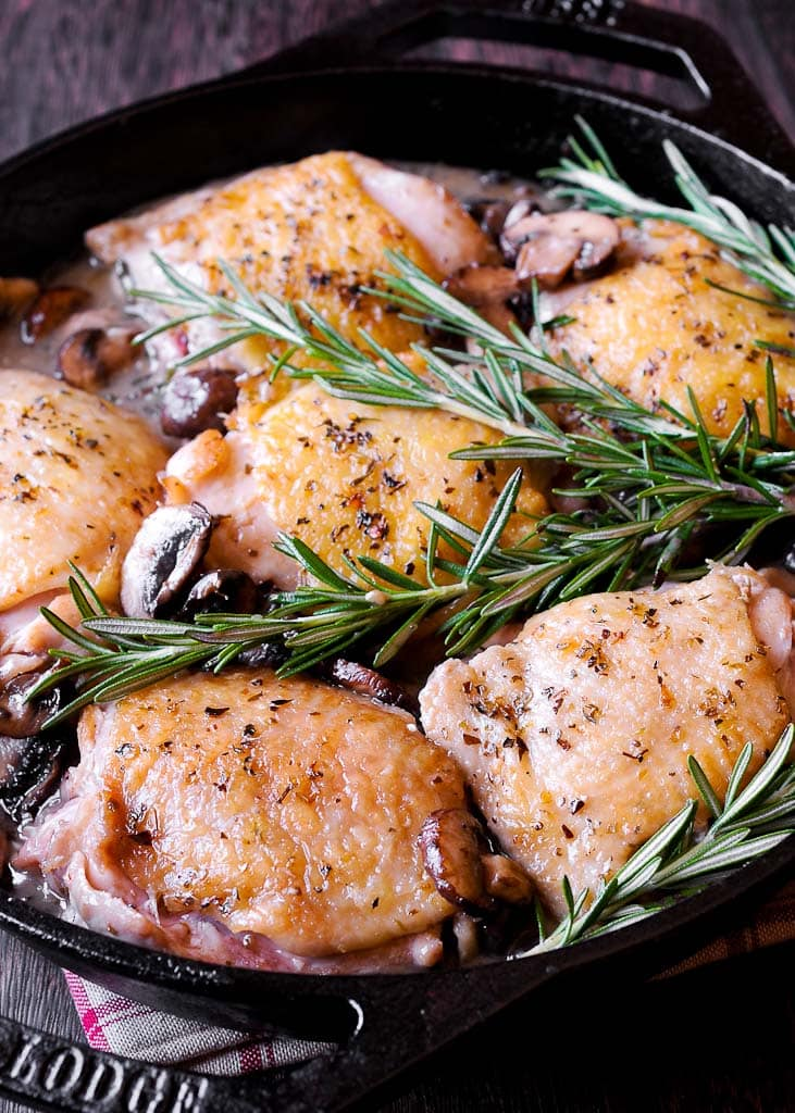 Oven Roasted Rosemary Chicken Thighs