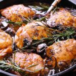 Oven Roasted Rosemary Chicken Thighs in Wine Sauce