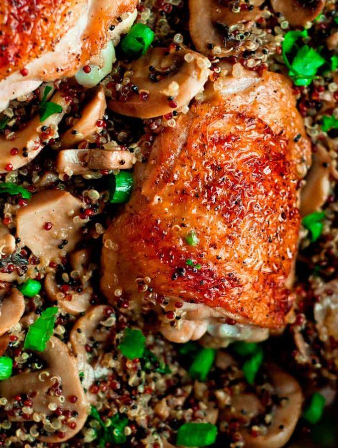 Chicken Quinoa with Mushrooms