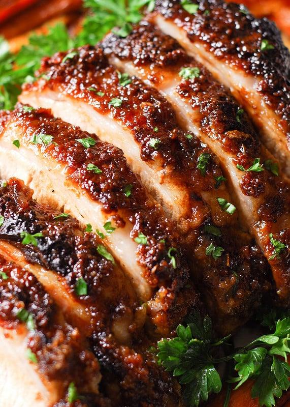 Brown Sugar Dijon Glazed Pork Loin