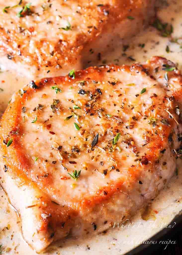 Creamy Low Carb Pork Chops (Gluten Free)