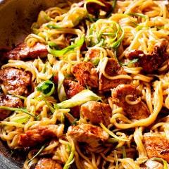 Chicken Chow Mein Noodles Restaurant Style