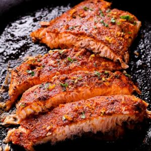 Easy Oven Roasted Cajun Salmon