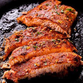 Easy Oven Roasted Cajun Salmon