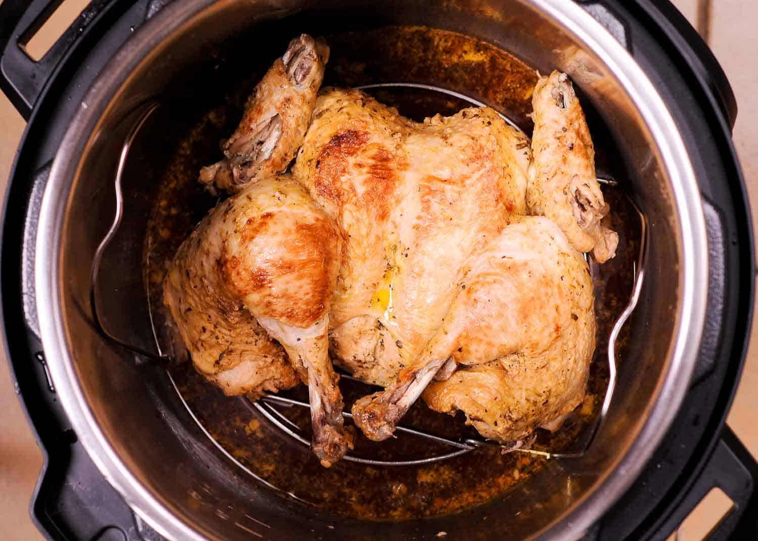 Instant Pot Spatchcock Chicken with Mustard Crust