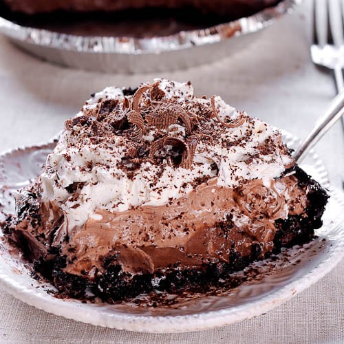 No Bake Chocolate Pudding Cream Pie
