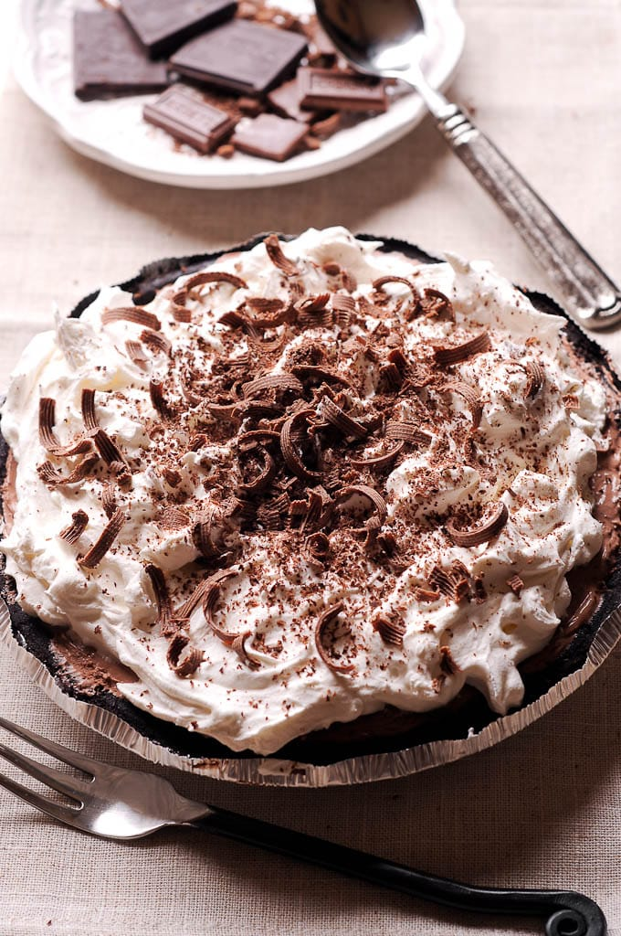 No Bake Double Chocolate Cream Pie