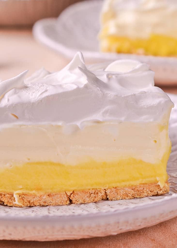 Easy No Bake Lemon Pudding Pie