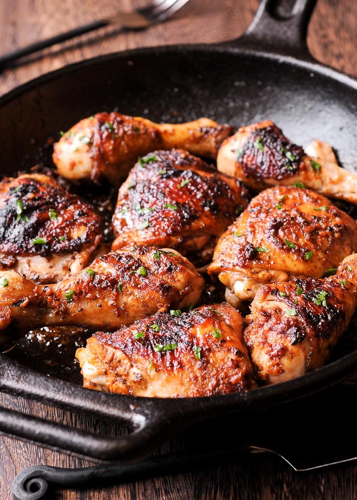 Marinated Oven Baked Peri Peri Chicken Thighs and Drumsticks