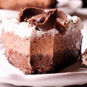 no bake chocolate pudding cream pie
