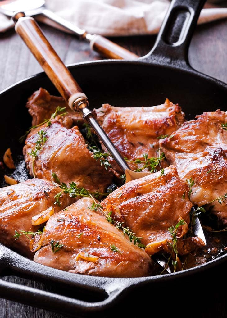 How To Cook Pan Roasted Rabbit in Wine Sauce