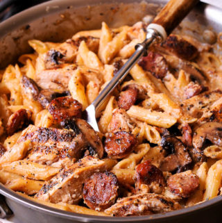 Cajun Chicken and Sausage Pasta