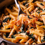 Chicken Spinach Bacon Alfredo Pasta