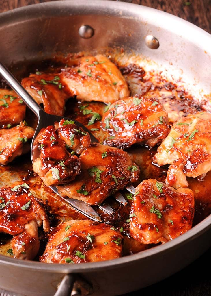 Sweet And Salty Boneless Chicken Thighs What S In The Pan