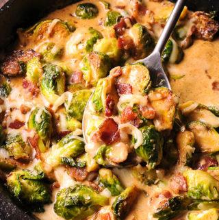 Brussels Sprouts Bacon Mozzarella