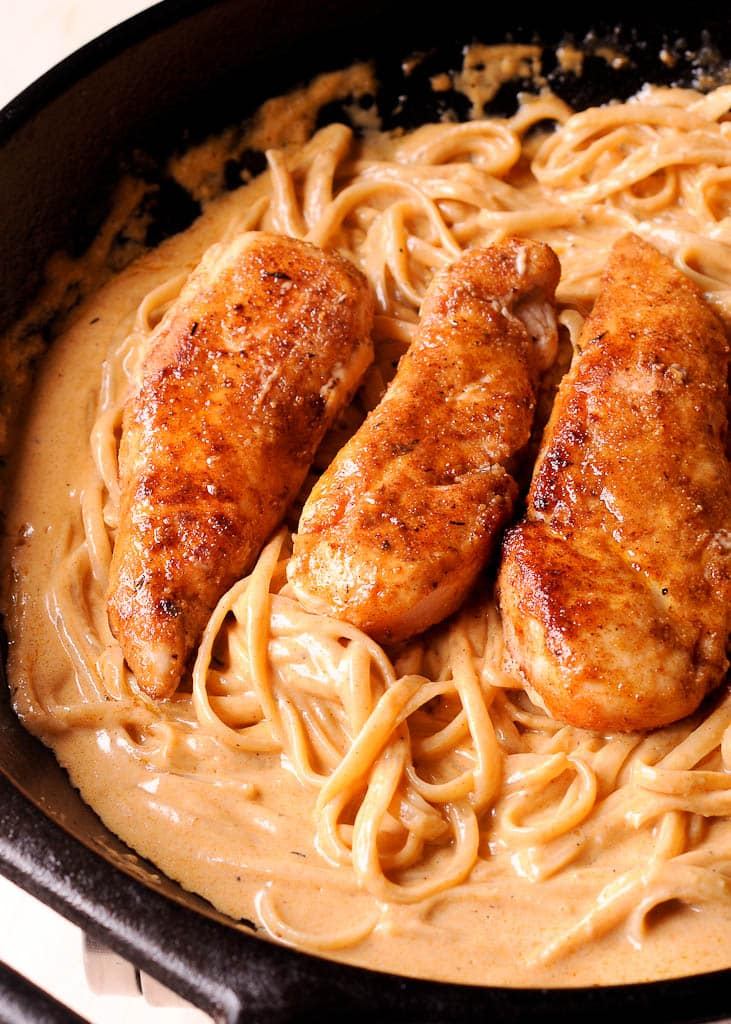 New Orleans Chicken Lazone Pasta