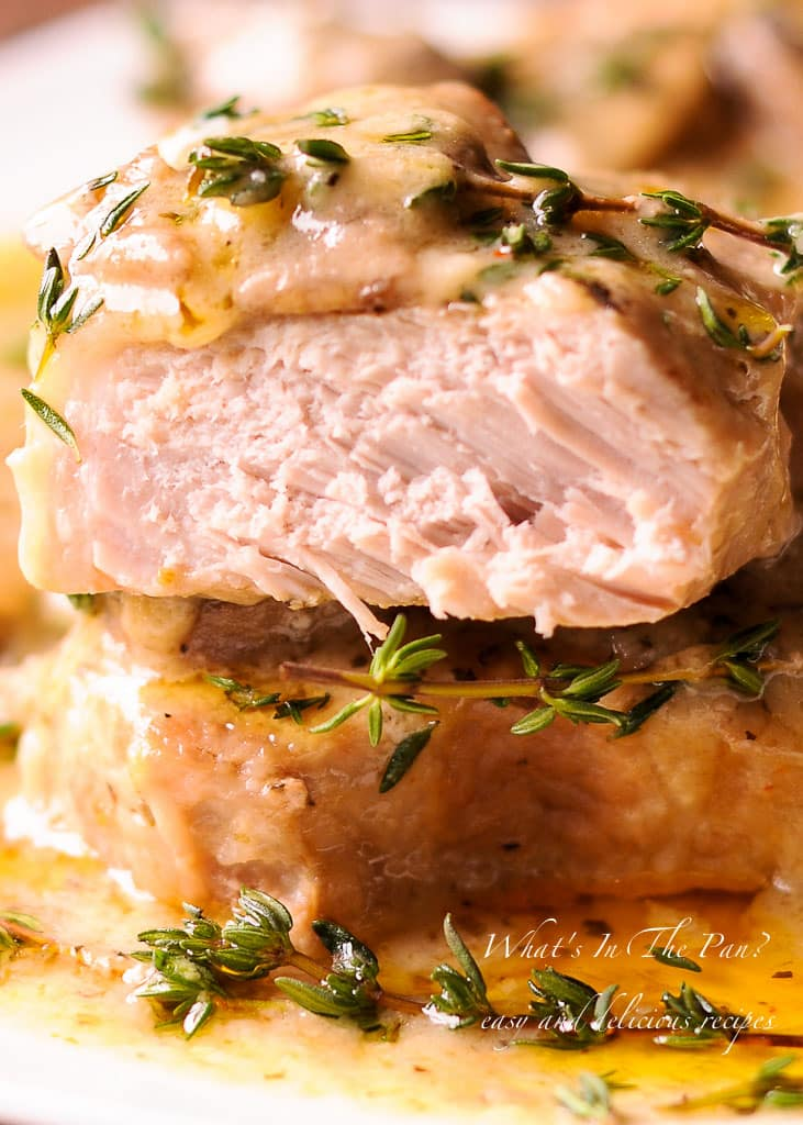 Instant Pot Pork Chops in Mushroom Gravy