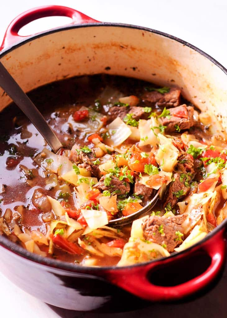 The Best Cabbage and Beef Soup