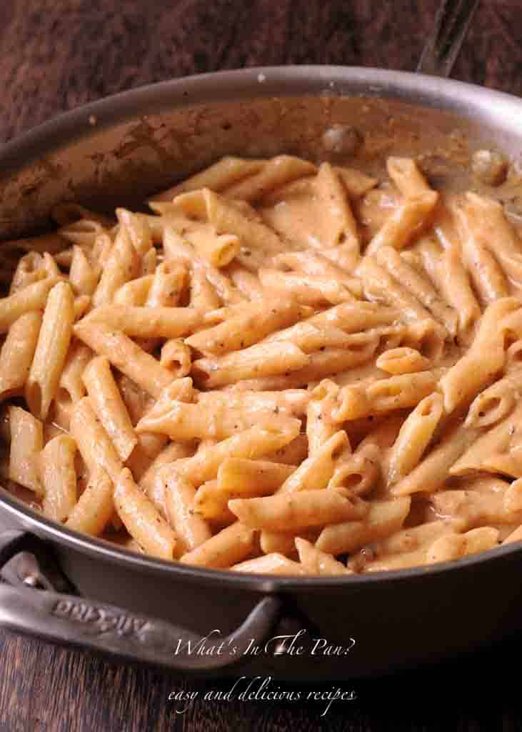 Creamy Cajun Chicken Pasta With Smoked Sausage What S In The Pan