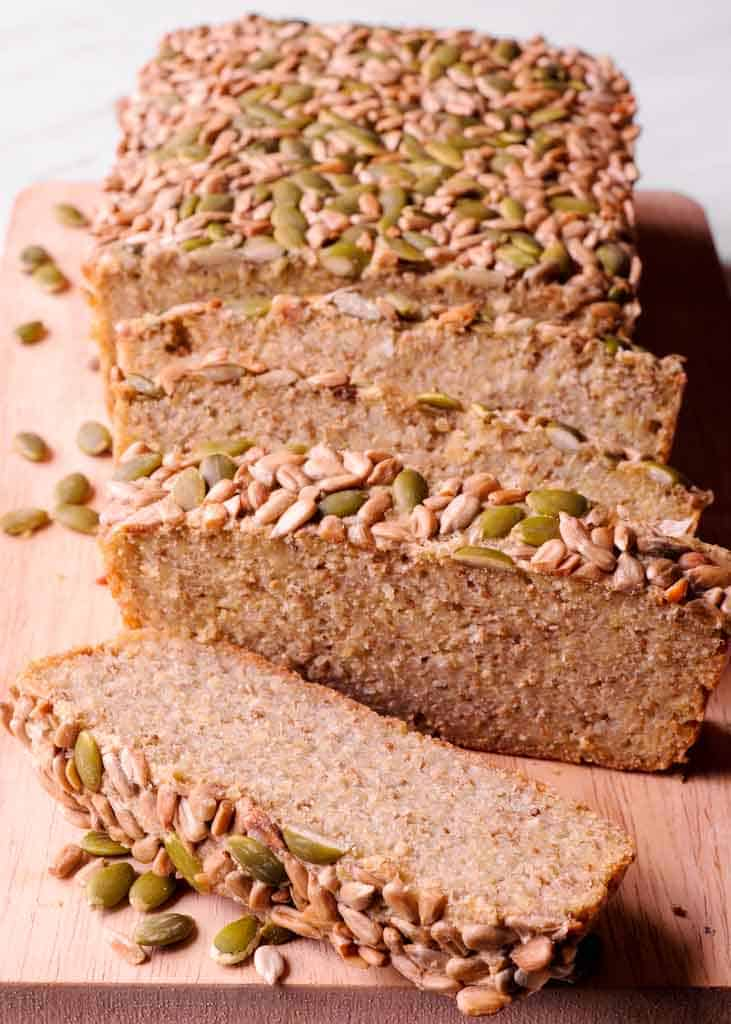 Quinoa Bread with Sunflower and Pumpkin Seeds