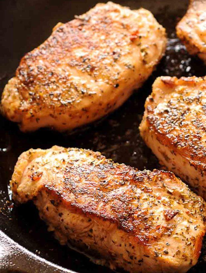 Easy Pan-Seared Pork Chops