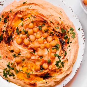 Smooth Hummus with Roasted Garlic