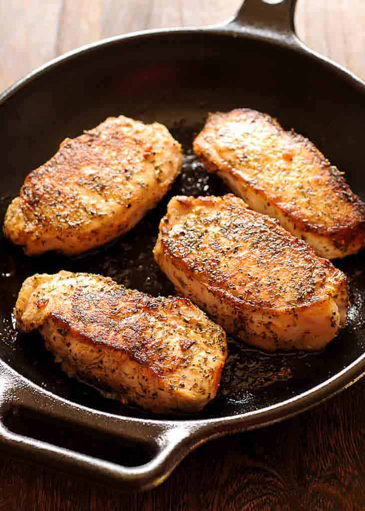 Boneless Pork Chops in Creamy Irish Whiskey Sauce