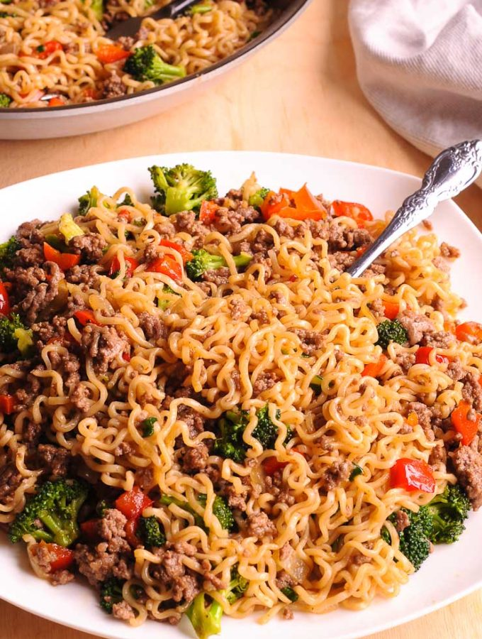 Healthy Ramen Noodles Stir Fry