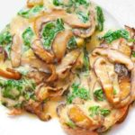 Chicken with Spinach and Mushrooms