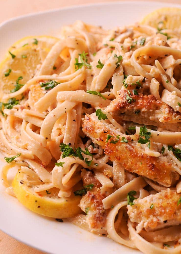 Creamy Lemon Garlic Chicken Pasta