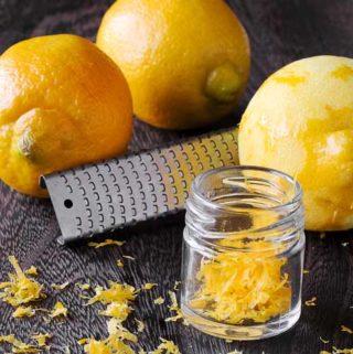 Zesting a lemon