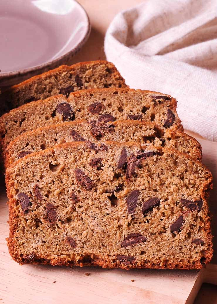 Quinoa bread with chocolate chips
