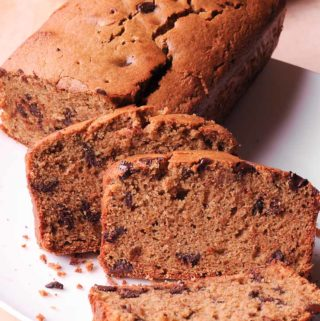 This gluten free chocolate chip loaf recipe is so good that it makes it easy to make it weekly and not feel guilty about this indulgent treat!