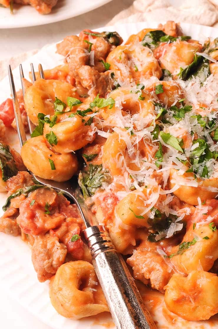 sausage and tortellini recipe cooked in one pot