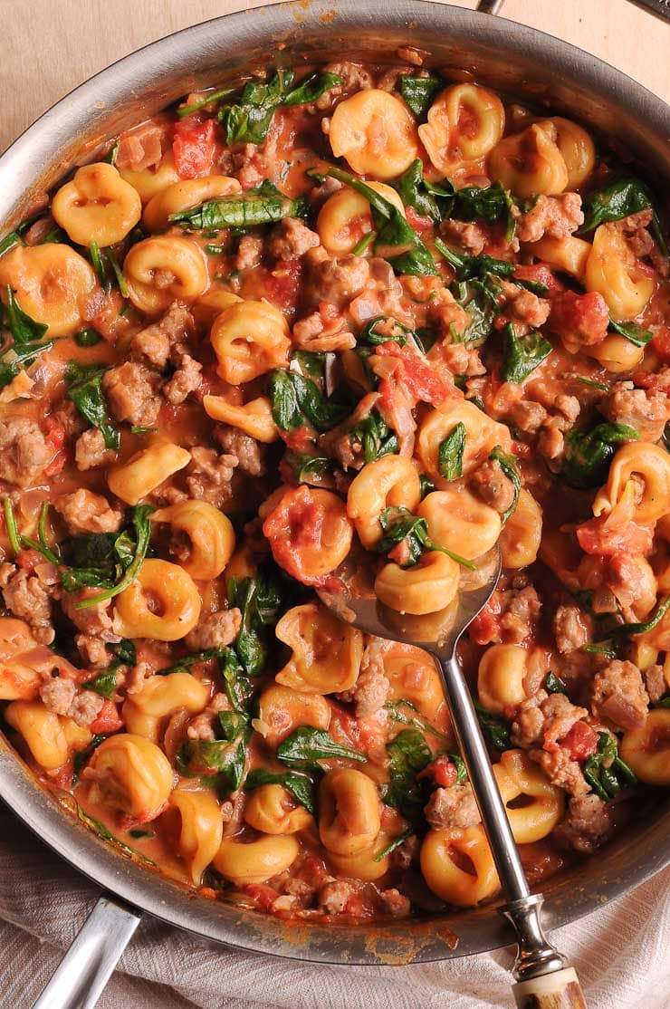 Sausage and Tortellini in Creamy Sauce