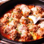 Mozzarella Baked Meatballs