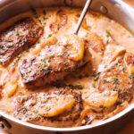 Pork Chops in Apple Cider Sauce
