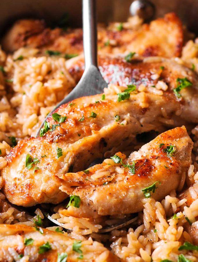 Chicken and Garlic parmesan rice