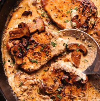 Garlic Mushroom Pork Chops