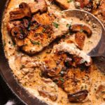Pork chops with mushrooms
