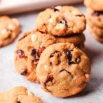 white chocolate cranberry cookie