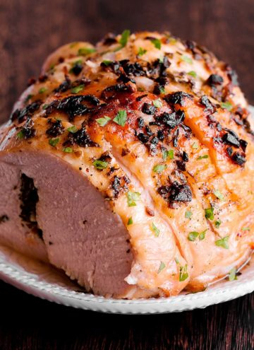 Turkey Breast on a white plate